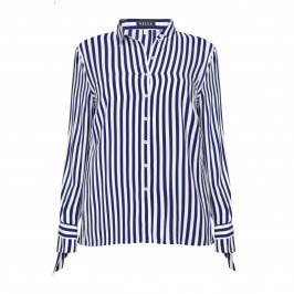 BEIGE label stripe TIE CUFF SHIRT - Plus Size Collection