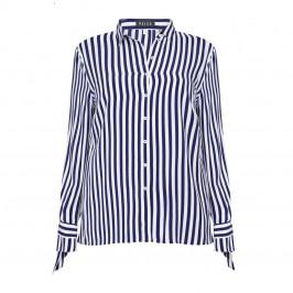 BEIGE label stripe TIE CUFF SHIRT - Plus Size Collection