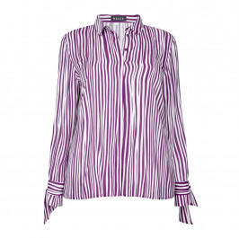 BEIGE Label long STRIPE SHIRT - Plus Size Collection