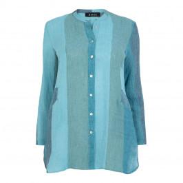 BEIGE LABEL NEHRU COLLAR SHIRT BLUE - Plus Size Collection