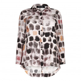 BEIGE label pink tile print classic SHIRT - Plus Size Collection