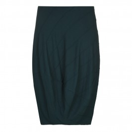 BEIGE RIB TEXTURE JERSEY SKIRT IN FOREST GREEN - Plus Size Collection