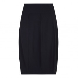 BEIGE TULIP SHAPE JERSEY SKIRT IN BLACK - Plus Size Collection