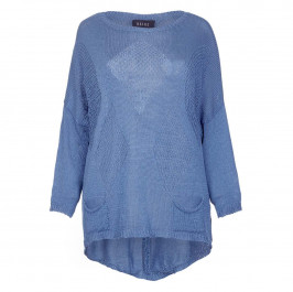 BEIGE label blue loose stitch Knitted SWEATER - Plus Size Collection