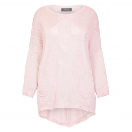 BEIGE LABEL PALE PINK LOOSE STITCH KNITTED SWEATER  - Plus Size Collection