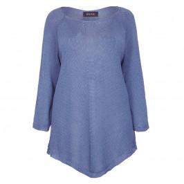 BEIGE LABEL BLUE LOOSE STITCH V-HEM SWEATER  - Plus Size Collection