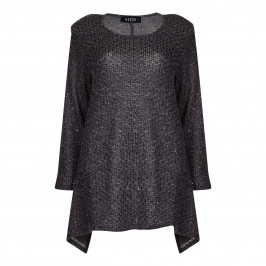 BEIGE label grey SWEATER with Sequins - Plus Size Collection