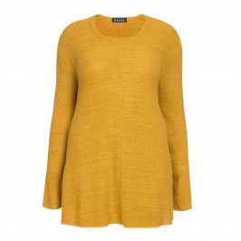 BEIGE LABEL FLARED KNITTED TUNIC MUSTARD - Plus Size Collection