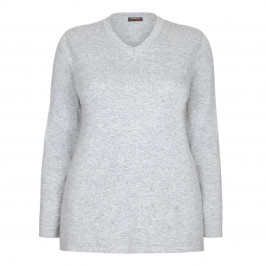 BEIGE LABEL KNITTED SWEATER EMBELLISHED FRONT - Plus Size Collection