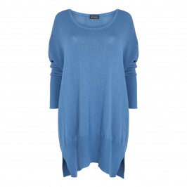BEIGE LABEL PALE BLUE OVERSIZE SWEATER DRESS - Plus Size Collection
