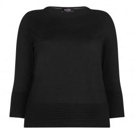 BEIGE label black horizontal rib detail SWEATER - Plus Size Collection