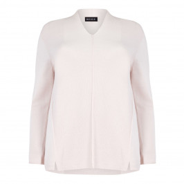 BEIGE LABEL ROSE V-NECK SWEATER WITH MOSS STITCH - Plus Size Collection