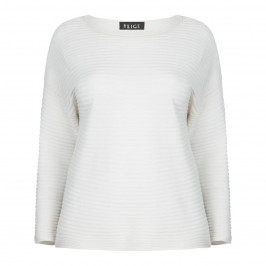 BEIGE LABEL MERINO WOOL SCOOP NECK SWEATER - Plus Size Collection