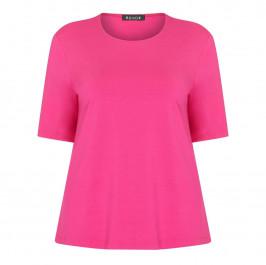 BEIGE LABEL SCOOP NECK T-SHIRT CERISE - Plus Size Collection