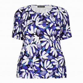 BEIGE LABEL FLORAL PRINT T-SHIRT BLUE - Plus Size Collection