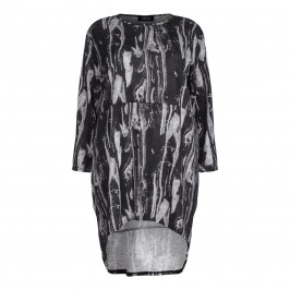 BEIGE label grey long back TOP with abstract print - Plus Size Collection
