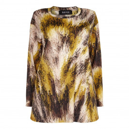 BEIGE label mustard print TOP - Plus Size Collection