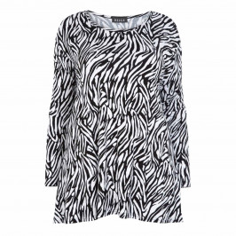 BEIGE LABEL ZEBRA PRINT TUNIC - Plus Size Collection