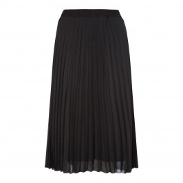 BEIGE LABEL PLEATED MIDI SKIRT BLACK - Plus Size Collection