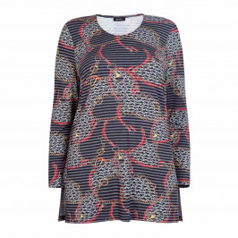 BEIGE LABEL EQUESTRIAN PRINT A-LINE TUNIC - Plus Size Collection