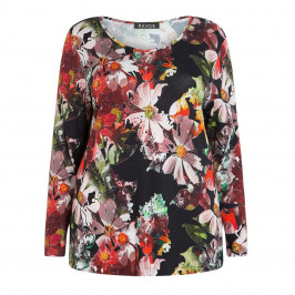 BEIGE LABEL STRETCH JERSEY FLORAL PRINT TOP - Plus Size Collection