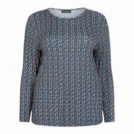BEIGE LABEL STRETCH JERSEY HEART PRINT TOP - Plus Size Collection