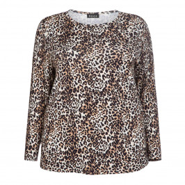 BEIGE LABEL STRETCH JERSEY ANIMAL PRINT TOP - Plus Size Collection