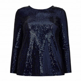 BEIGE LABEL NAVY SEQUIN TOP - Plus Size Collection