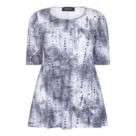 BEIGE LABEL JERSEY PRINT TOP  - Plus Size Collection