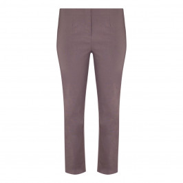 BEIGE LABEL PULL ON TECHNOSTRETCH TROUSER TAUPE - Plus Size Collection