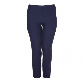 BEIGE LABEL NAVY NARROW LEG TECHNO-STRETCH TROUSER  - Plus Size Collection
