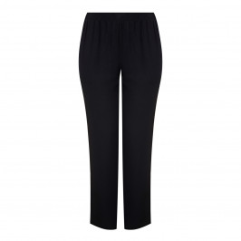 BEIGE BLACK PULL ON TROUSERS - Plus Size Collection