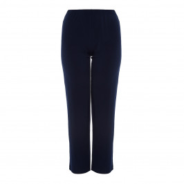 BEIGE NAVY FLUID JERSEY TROUSERS - Plus Size Collection
