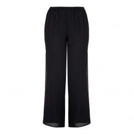 BEIGE BLACK PALAZZO TROUSER - Plus Size Collection