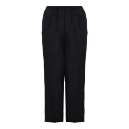 BEIGE label black linen TROUSERS - Plus Size Collection