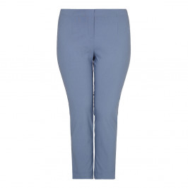 BEIGE Denim blue stretch tROUSERS - Plus Size Collection