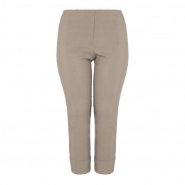 BEIGE LABEL TECHNOSTRETCH TROUSER TURN UP TAN - Plus Size Collection