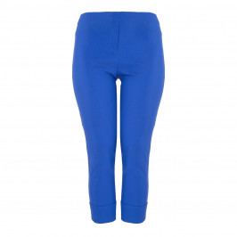 BEIGE LABEL TECHNOSTRETCH TROUSER TURN UP COBALT - Plus Size Collection