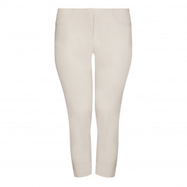 BEIGE LABEL TECHNOSTRETCH CROPPED TROUSER TURN UP BEIGE - Plus Size Collection