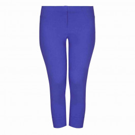 BEIGE LABEL TECHNOSTRETCH CROPPED TROUSER TURN UP BLUETTE - Plus Size Collection