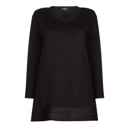 BEIGE label black jacquard Tunic - Plus Size Collection