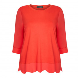 BEIGE LABEL TUNIC POPPY RED - Plus Size Collection