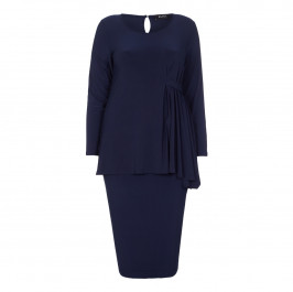 BEIGE label navy cocktail Tunic and skirt set - Plus Size Collection