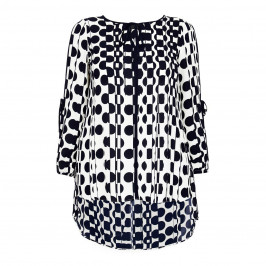 BEIGE LABEL NAVY AND WHITE TUNIC - Plus Size Collection
