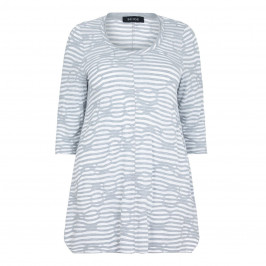 BEIGE label wavy stripe Tunic - Plus Size Collection