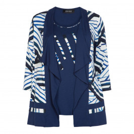 BEIGE LABEL PRINTED NAVY TWINSET - Plus Size Collection