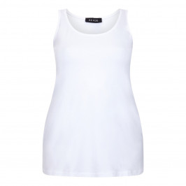 BEIGE LABEL WHITE JERSEY VEST - Plus Size Collection