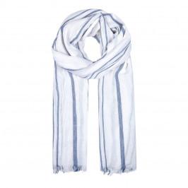 BEIGE LABEL BLUE STRIPE PURE COTTON SCARF - Plus Size Collection