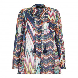 BEIGE label missoni style print SHIRT - Plus Size Collection