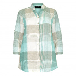 BEIGE label mint and stone cheesecloth SHIRT - Plus Size Collection